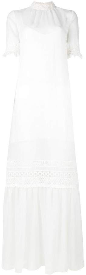 McQ lace detail full length dress