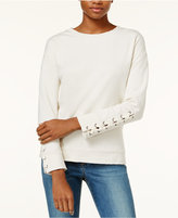 Joe's Jeans Miaya Lace-Up Sweatshirt