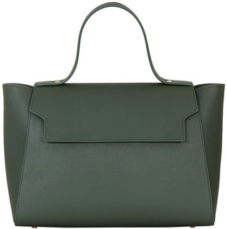 Cara The Top Handle Tote Leather Bag Green