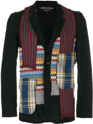 Comme des Garcons Pre-Owned patchwork blazer