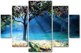 Trademark Global Beata Czyzowska Young 'Rays of Hope' Multi-Panel 5-pc. Art Set