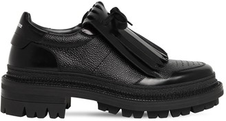 DSQUARED2 50mm Lace-Up Leather Shoes W/ Fringe