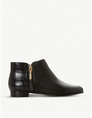 Dune Pandan leather ankle boots