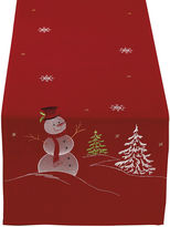 MIX MONSTERS Snowman Embroidered Table Runner