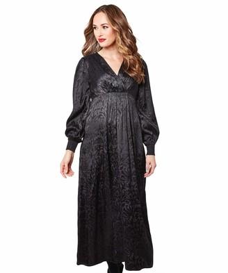 Joe Browns Womens Vintage Style Floral Jacquard Maxi Dress Black 12