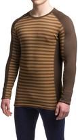 Ibex Woolies 2 Striped Base Layer Top - Merino Wool, Crew Neck, Long Sleeve (For Men)