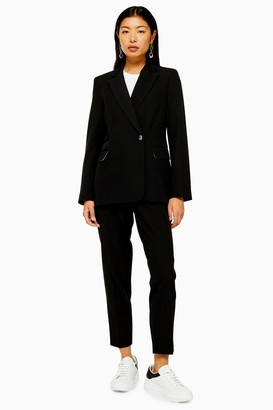 Topshop Womens Black Single Breasted Smart Blazer - Black
