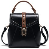 Tibes PU Leather Women Top Handle Shoulder Bag Wild Crossbody Handbag