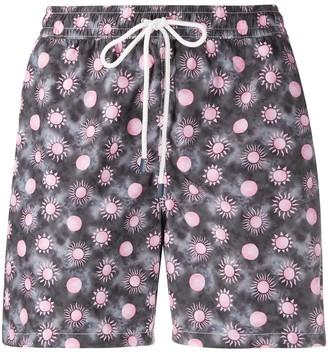 Fedeli Sun-Print Swim Shorts