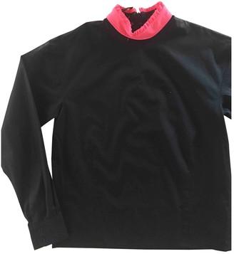 Cédric Charlier Black Cotton Top for Women