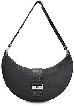 Christian Dior Black Leather Street Chic Hobo