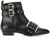 RED Valentino buckled ankle boots - women - Calf Leather/Leather - 36