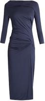 Vivienne Westwood Taxa asymmetric draped jersey dress