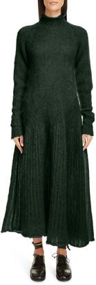 Sara Lanzi Long Sleeve Mohair Blend Sweater Dress