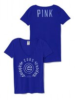 Victoria's Secret PINK Chicago Cubs Fitted V-Neck Tee