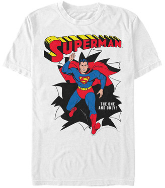 Fifth Sun Tee Shirts WHITE - Superman White 'The One & Only' Crewneck Tee - Adult