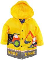 Wippette Little Boys Waterproof Construction Trucks Raincoat Jacket Slicker