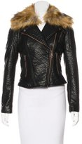 Andrew Marc Faux Leather Moto Jacket w/ Tags