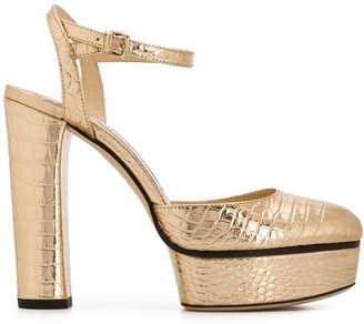 Jimmy Choo Maple 125mm crocodile-effect pumps