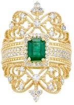 Effy Jewelry Effy Brasilica 14K Yellow Gold Emerald and Diamond Ring, 1.68 TCW