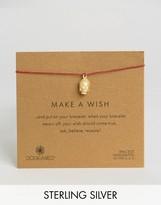 Dogeared Gold Plated 3D Buddha Make A Wish Linen Bracelet