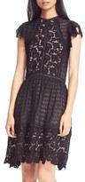 Rebecca Taylor Mix Lace A-Line Dress