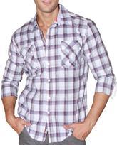 191 Unlimited Men's Purple Plaid Cotton-blend Shirt