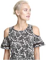 Joe Fresh Women's Cold Shoulder Knit Dress, Dark Grey (Size M)