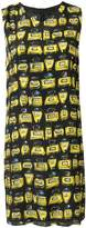 Moschino all over perfumes prints midi dress