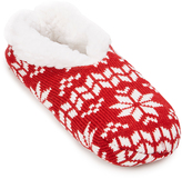 Charles Albert Red & White Fair Isle Slipper - Women