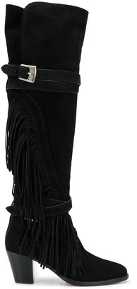 Etro Fringed-Detail Knee-High Boots