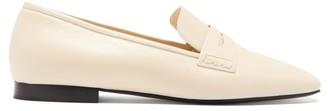 KHAITE Carlisle Square-toe Leather Loafers - Cream