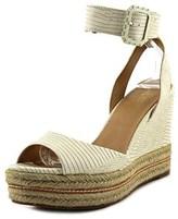 Aldo Seanor Women Open Toe Synthetic Ivory Wedge Heel.