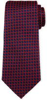 Armani Collezioni 3D Box-Print Silk Tie, Navy/Red