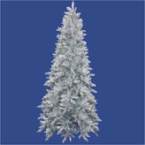 Asstd National Brand 10' Pre-Lit Slim Silver Ashley Spruce Tinsel Christmas Tree with Clear Lights
