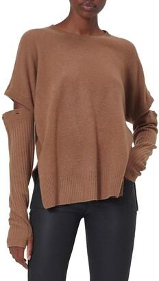 Equipment Emerielle Convertible Sleeve Wool Blend Sweater
