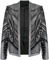 Balmain short studded open-front jacket