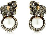 Alcozer & J Elsa Elephant Earrings