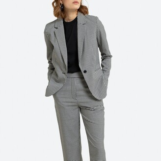 La Redoute Collections Gingham Print Blazer