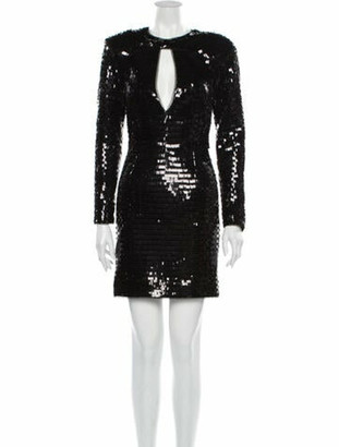 HANEY Plunge Neckline Mini Dress w/ Tags Black