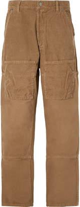 Jacquemus Wide-Leg Cotton-Corduroy Cargo Trousers - Men - Neutrals