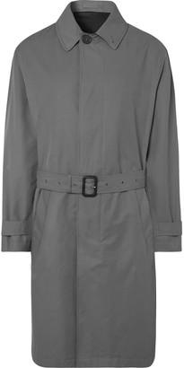 Mr P. Belted Bonded Cotton-Blend Raincoat