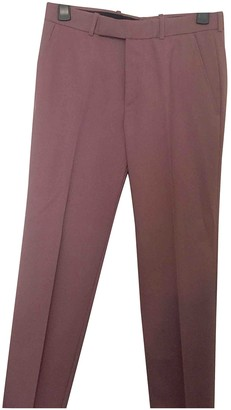 Alexander McQueen Purple Wool Trousers