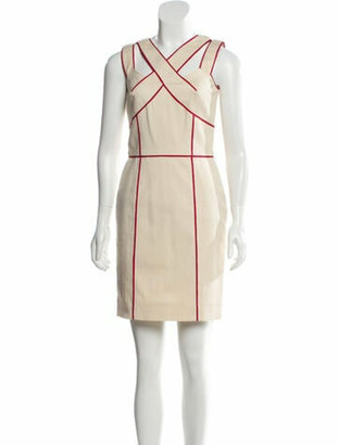 Oscar de la Renta 2008 Mini Dress w/ Tags Red