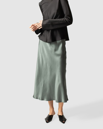 GINIA RTW - Women's Maxi skirts - Boa Silk Satin Skirt - Size One Size, S at The Iconic