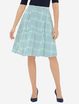 The Limited Printed A-Line Midi Skirt
