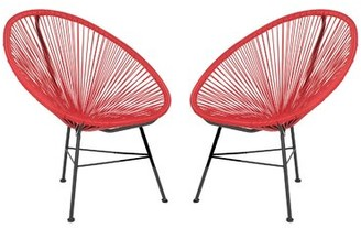 Bronx Fiedler Patio Chair Ivy Color: Red