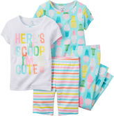 Carter's 4-pc. Ice Cream Pajama Set - Toddler Girls 2t-5t