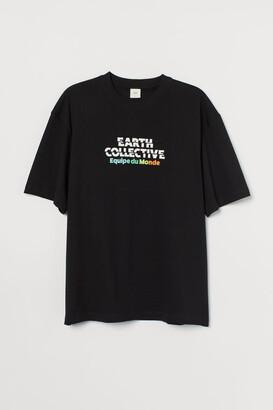 H&M Heavy Cotton Jersey T-shirt - Black