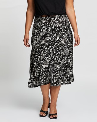 Atmos & Here Atmos&Here Curvy - Women's Black Midi Skirts - Lizzy Skirt - Size 18 at The Iconic